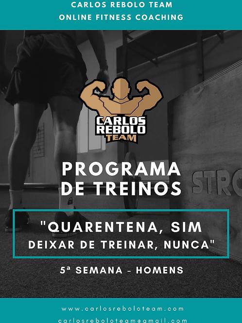 5ª SEMANA TREINO EM CASA | HOMEM