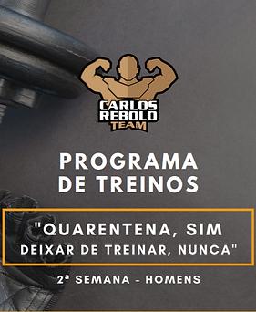 2ª SEMANA TREINO EM CASA | HOMENS