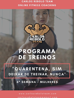 6ª SEMANA TREINO EM CASA   MULHER