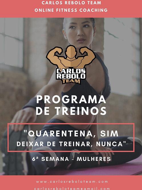 6ª SEMANA TREINO EM CASA | MULHER