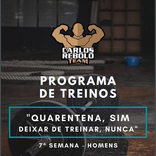 7ª SEMANA TREINO EM CASA | HOMEM