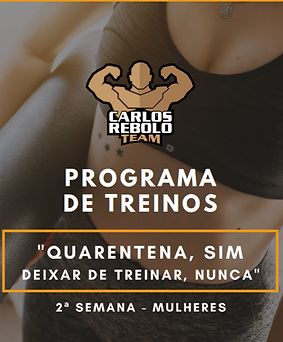2ª SEMANA TREINO EM CASA   MULHER