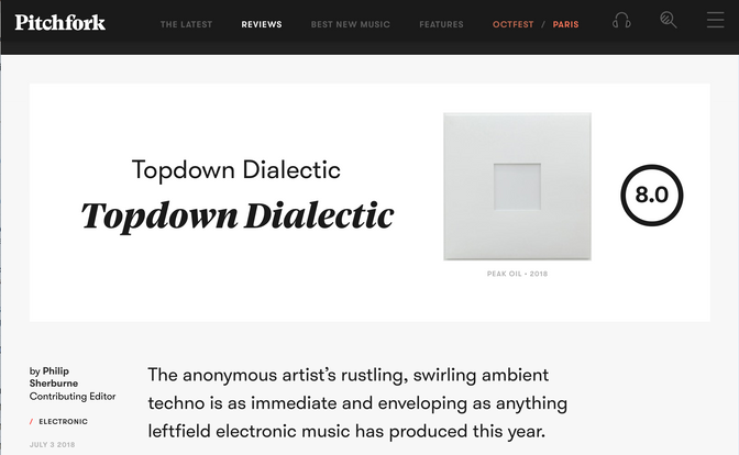 Topdown Dialectic receives 8.0/10 from Pitchfork