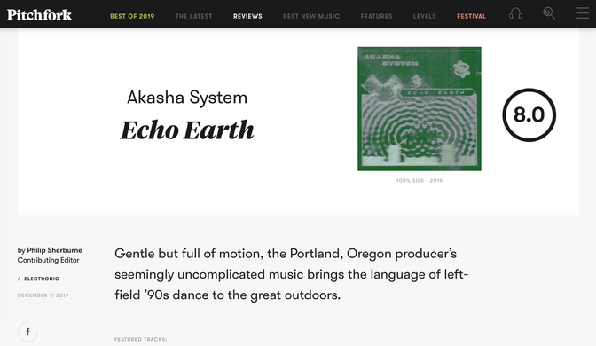 Akasha System's latest earns 8.0 from Pitchfork