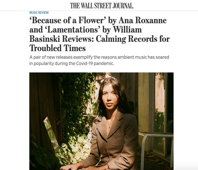 Ana Roxanne profiled by The Wall Street Journal