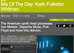 Keith Fullerton Whitman earns Resident Advisor's Mix Of The Day