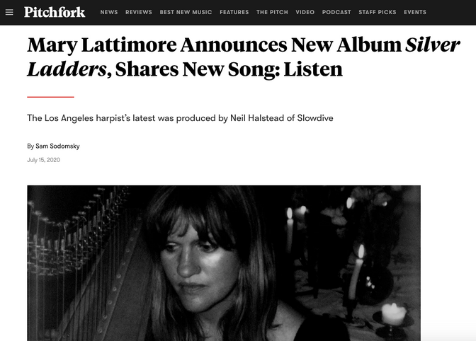Mary Lattimore to release new LP produced by Slowdive's Neil Halstead