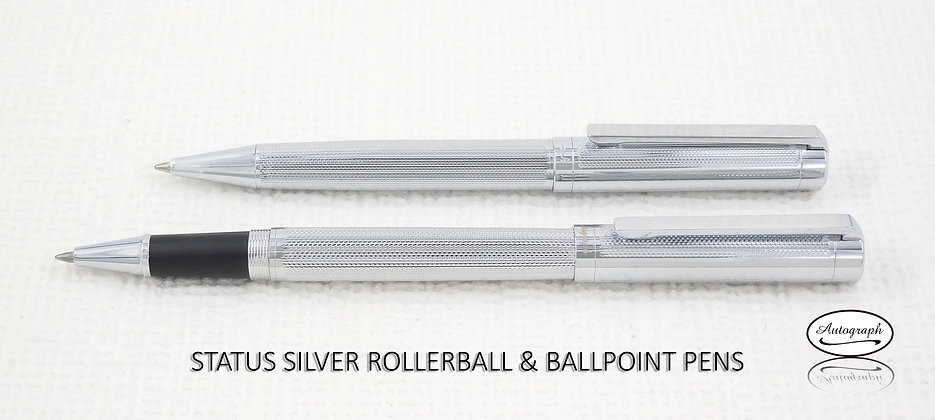 Status Silver Set of Ballpoint and Rollerball Pens