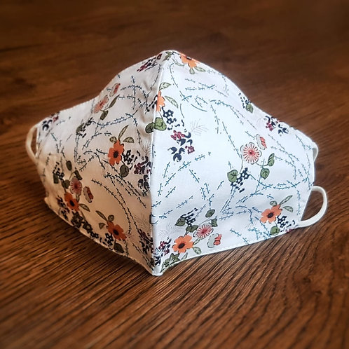 Adult Cotton - White Floral