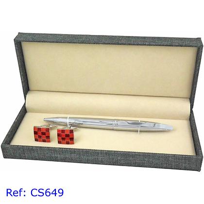 Hatton Fair Cufflinks & Pen Set Ref: CS-649