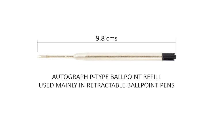 Ballpoint Refills (P-Type) pack of 3 (Black Ink)