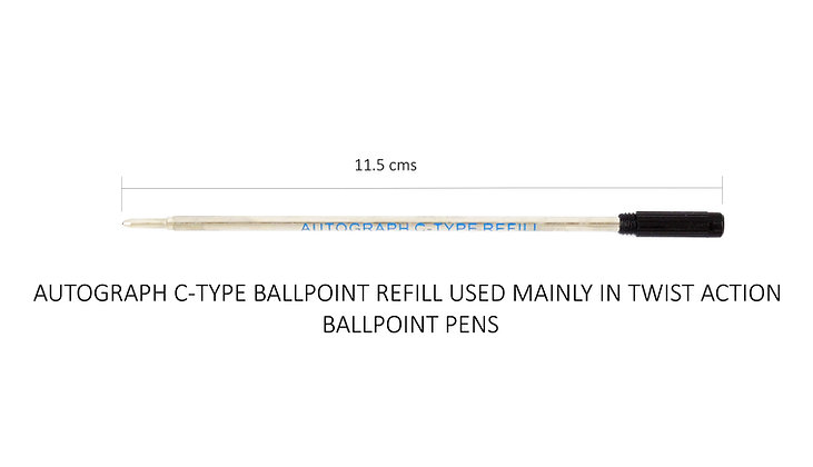Ballpoint Refills (C-Type) pack of 3 (Black Ink)