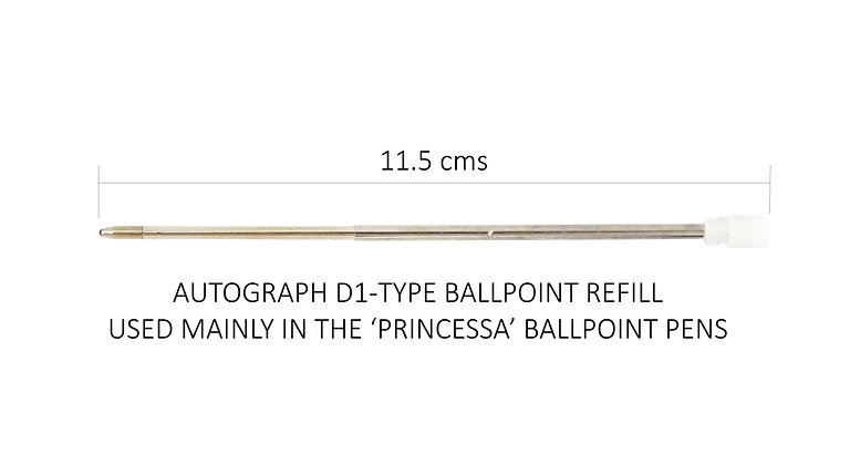 (D1) Ballpoint Refills (pack of 3) for Princessa