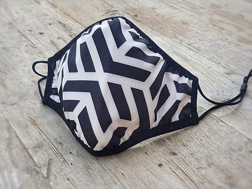 Adult SILVADUR™ Fabric - Black Geometric