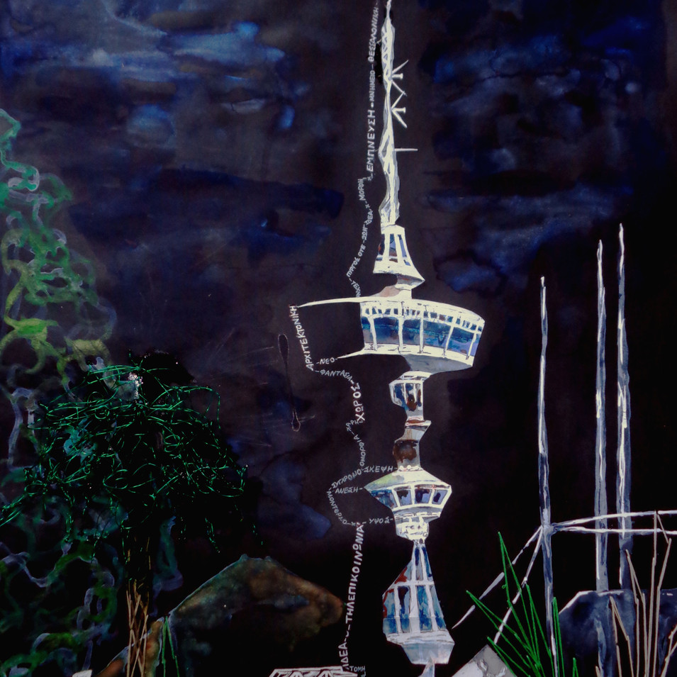 """""""OTE tower"""" (submission in Visual dialogues with the city)n"""