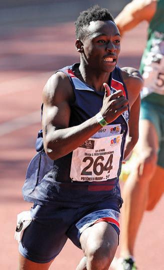 Clarence Munyai, SA 400m relay team member