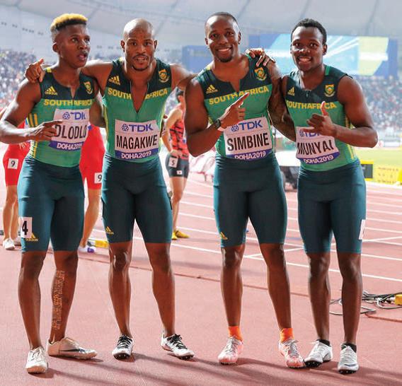 SA Men's 400m Relay Team