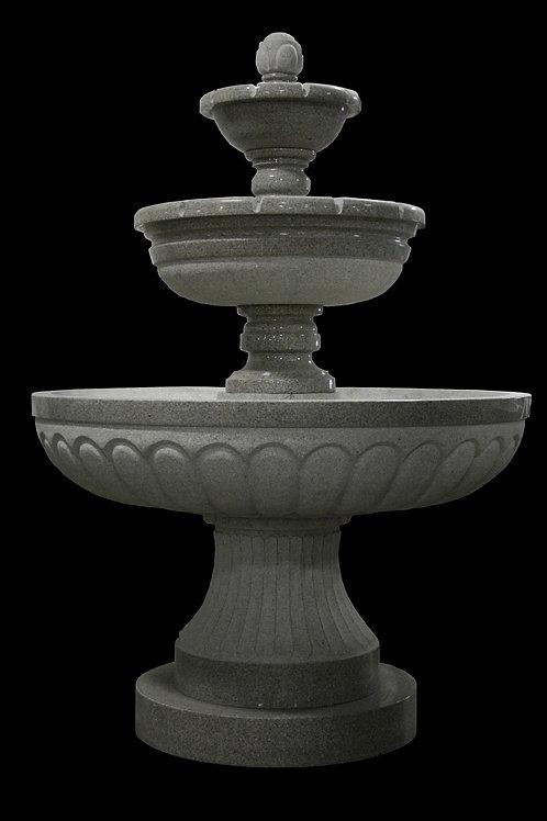 "FT-09-B Gray Granite 3 Tier 100"" Tall Fountain"