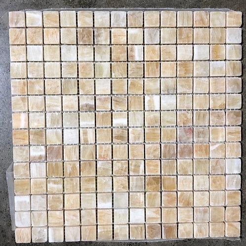 T-31 12x12 Honey Onyx Mosaic 1x1 Tile