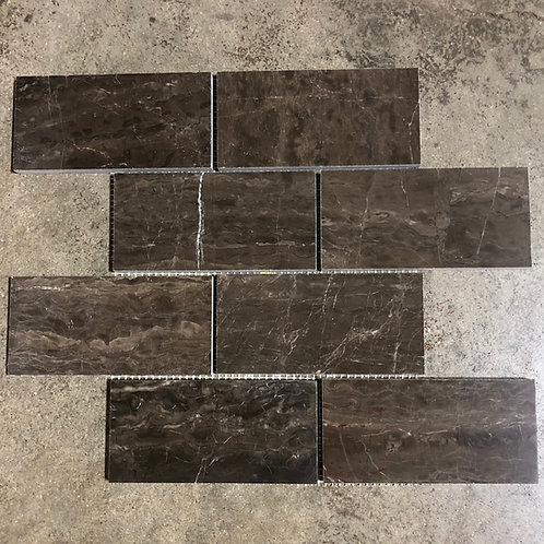 T-38 Dark Empredor Dark Coffee Brown Marble Mosaic