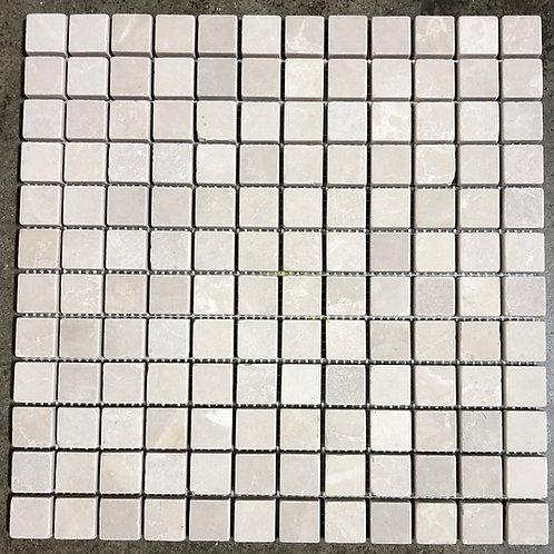 12x12 Botticino Mosaic 1x1 Natural Stone Backsplash Tile T-73