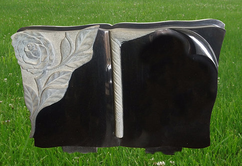 GB-16 Absolute Black Granite Hand Carved Bible