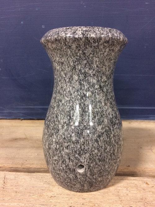 Spectrum Gray Granite Monument Vase 7x4-D