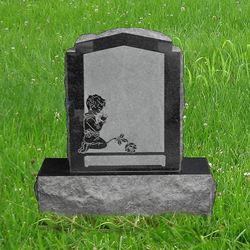 MN-89* India Black Granite Small Grave Marker