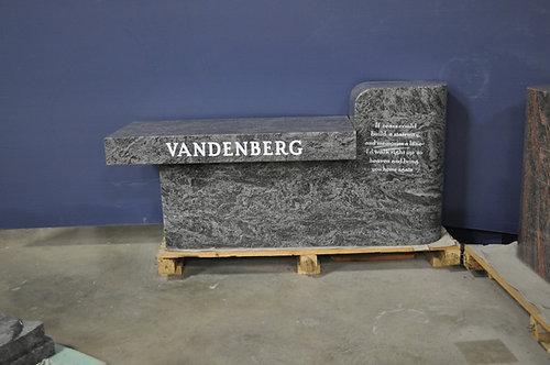 MNB-122 Bahama Blue Cremation Bench