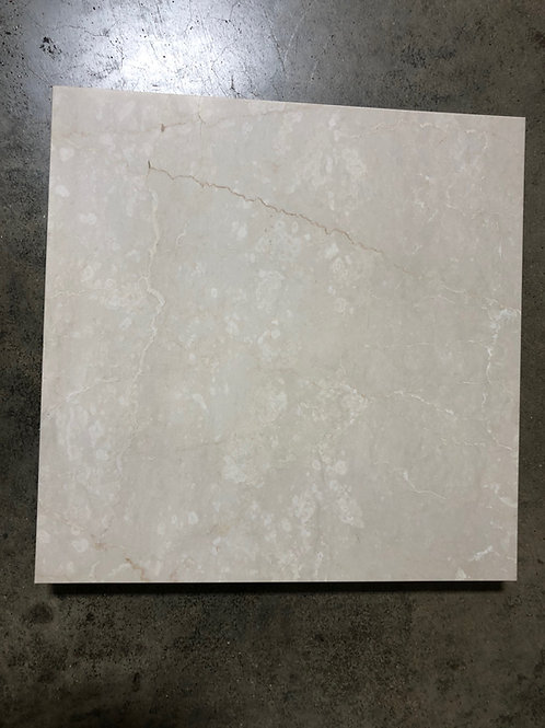T-23 18x18 White Botticino Marble Tile