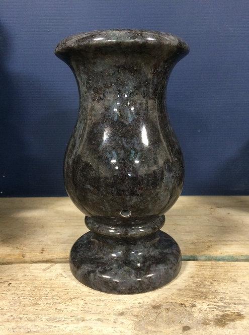 Bahama Blue Granite Monument Vase 9x5-C