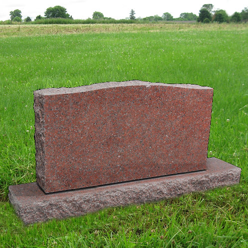 MN-37 India Red Granite Cemetery Tombstone