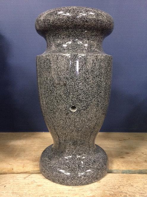 Dark Gray Granite Monument Vase 12x6-A