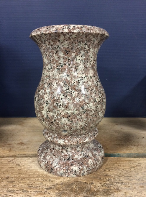 Plumb Rose Granite Monument Vase 9x5-C