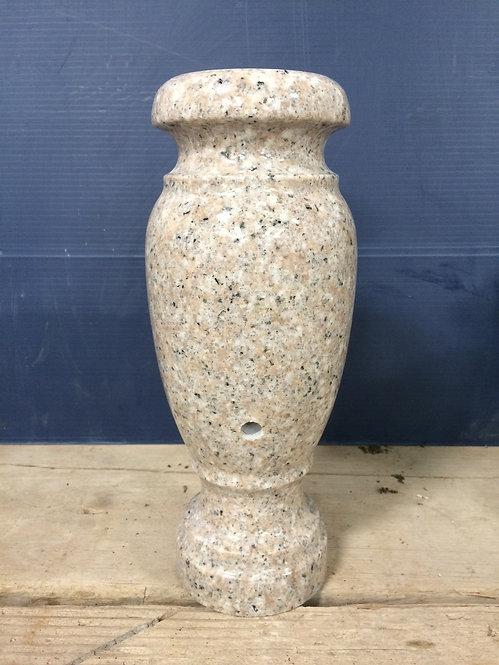 Champayne Rose Granite Monument Vase 10x4-G