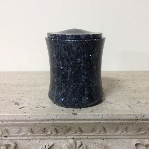 7.5x6.5 Granite Blue Pearl Urn-E