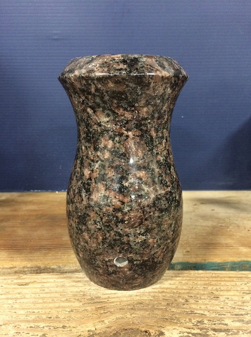 India Mahogany Granite Monument Vase 7x4-D