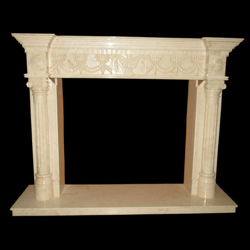 fps16 cream marble fireplace surround