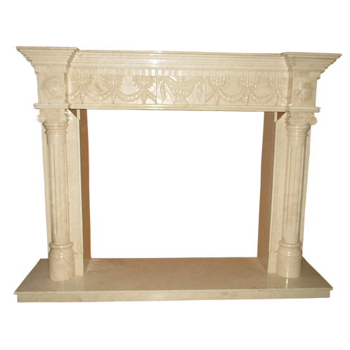 FPS-16 Cream Marble Fireplace Surround