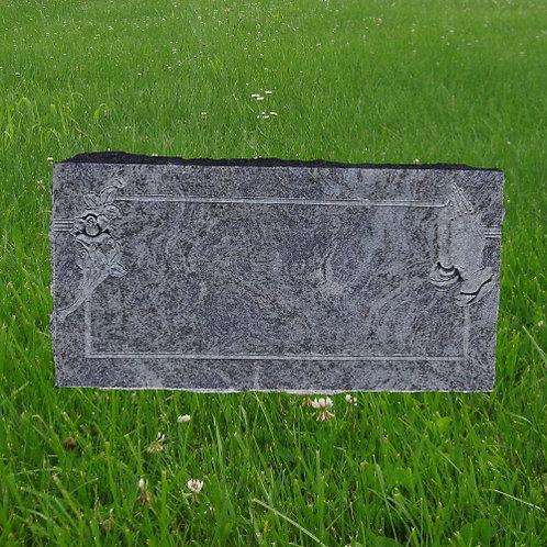 MN-129 Bahama Blue Granite Flat Stone Marker