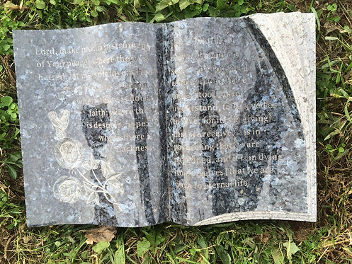 GB-18 Blue Pearl Granite Hand Carved Bible