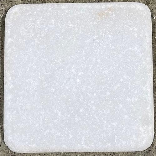 4x4 Snow Sparkle White Natural Stone Tile T-84