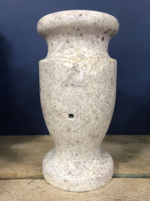 White Pearl Granite Monument Vase 12x6-A