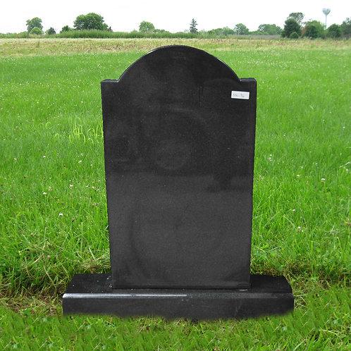 MN-96 Black Granite Grave Marker