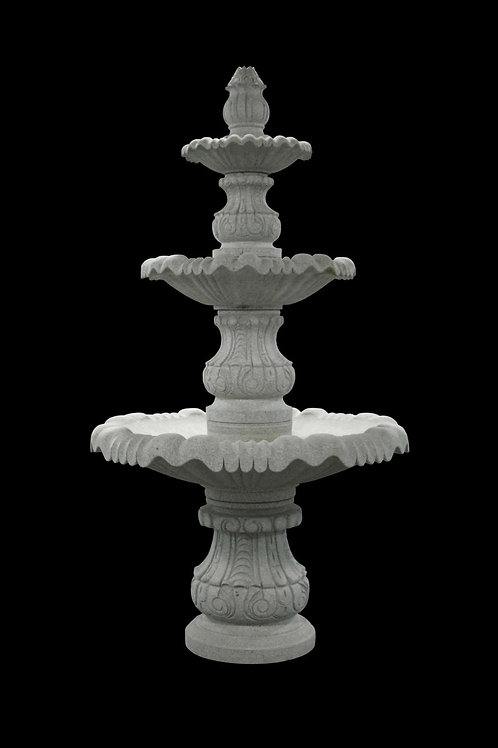 "FT-19-C Gray Granite 3 Tier 113"" Tall Fountain *Special Order*"