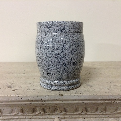 9.5x6.5 Crystal White Ornate Urn-H