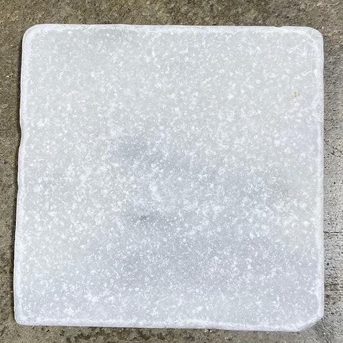 T-94 Swan White 4x4 Tumbled Natural Stone Tile