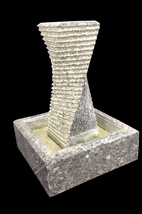 "FT-26 Granite Helix Office Plumb Rose 18"" Tall Fountain"