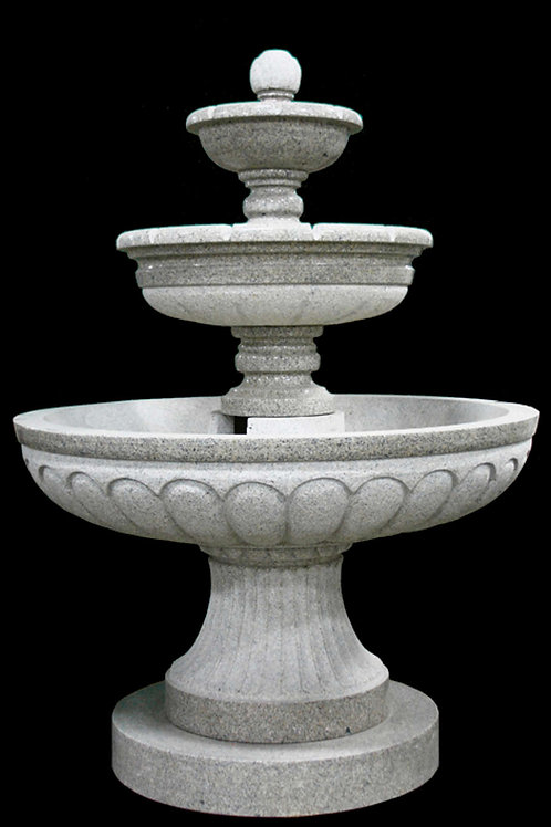 "FT-09-A Plumb Rose Granite 3 Tier 80"" Tall Fountain"