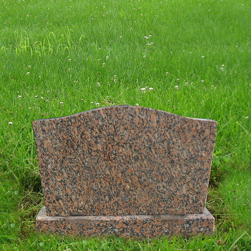 MN-121 Canyon Red Granite Grave Marker